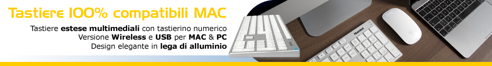 Tastiere in Alluminio per Mac e PC